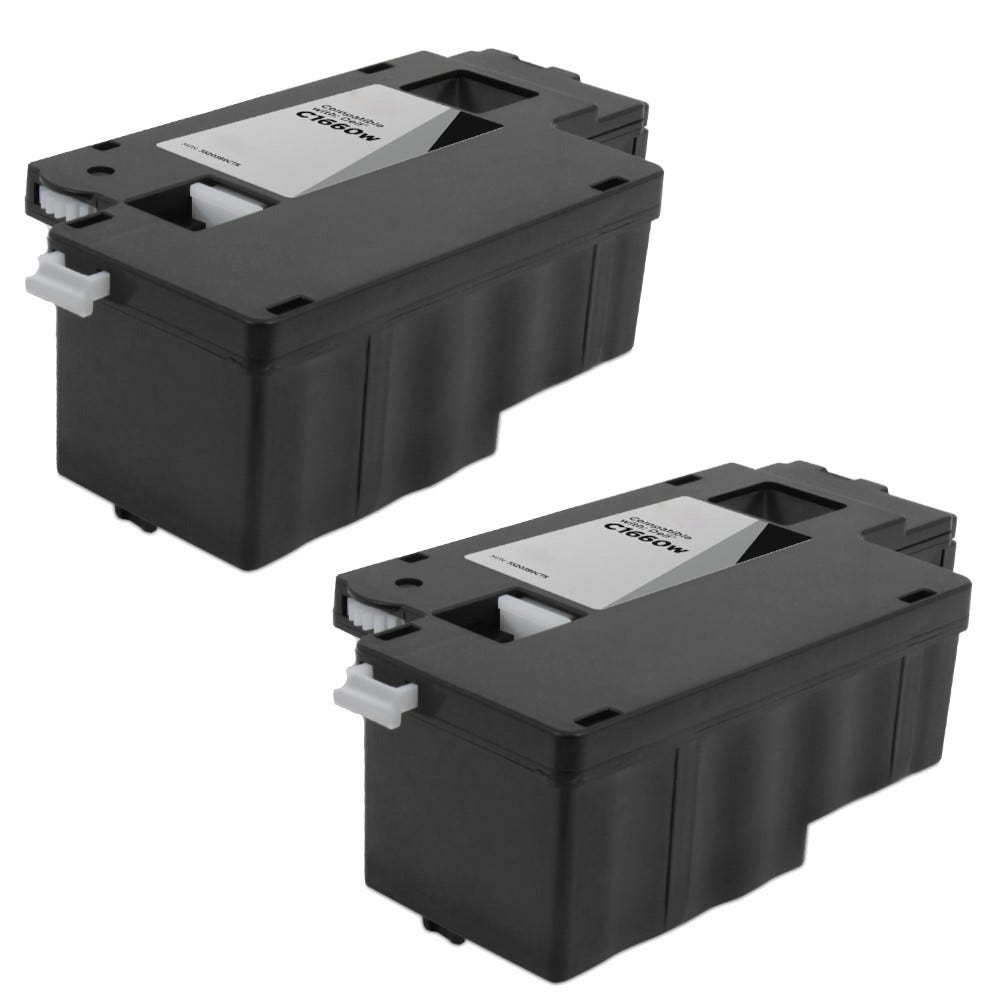 4 PK New 1660 Compatible Toner Cartridge For Dell Color Laser C1660 C1660w C1660